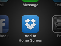 Dropbox iPhone App Icon
