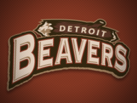 Detroit Beavers Word Mark Logo