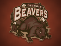 Detroit Beavers Main Logo