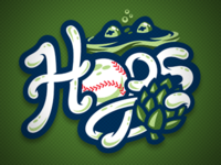 Washington Hops Baseball Concept