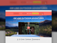 Zip Line Adventure Company UX/UI Design