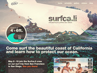 surfca.li logo and homepage for nike 6.0