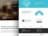 Homepage for Real Estate Marketplace