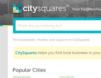 CitySquares Home Redesign