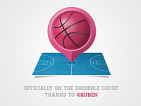 On the Dribbble court