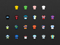 Tour de France app Jerseys