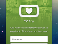 TV App - Login/Welcome