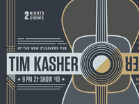 Tim Kasher Poster Close up for 1% Productions