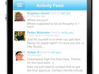How Skype for iPhone should look! Activity feed...