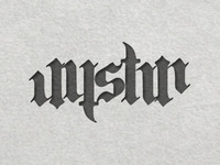Justin Ambigram Without Dots