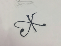 KJ Monogram Wedding Sketch