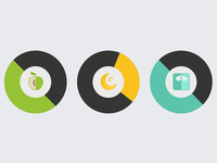 Measuring your health status icons