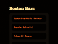 Boston Bars