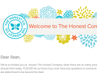 The Honest Comapny - Email Marketing