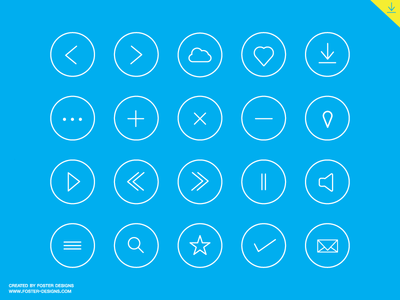 Download Round Icon Set Free Download