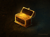 a wooden treasure chest
