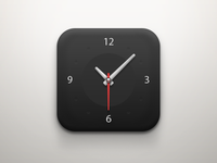 Clock iOS Icon (Dark)