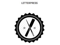 Letterpress Badge