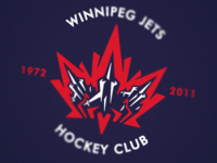 Winnipeg Jets Logo Blue