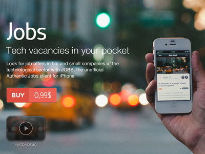 Jobs available on the App Store