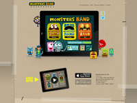 Monsters Band launch website