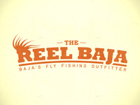 Reel Baja Text Logo