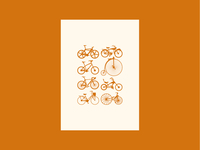 Vintage print - bicycles
