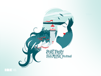 Port Fairy Folk Music Festival TShirt Illustration