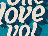 One love yo!  Poster