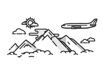 Plane and Mountains
