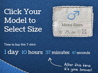 t-shirt store - sizes button rebound