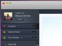YouTube player for MacOSX ui