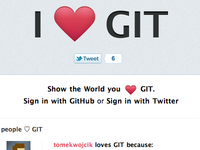 Tell the world why you love GIT!