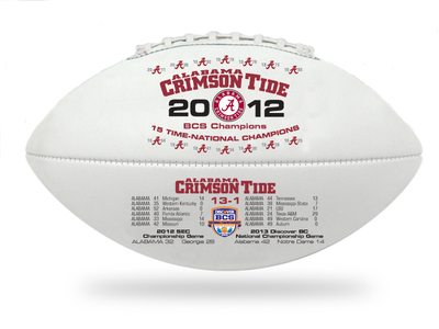 Alabama Crimson Tide BCS Championship Football