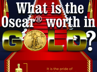 What is the Oscar worth in GOLD? infographic
