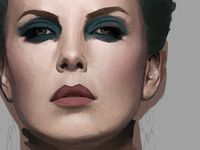 Charlize Theron Digital Painting Process