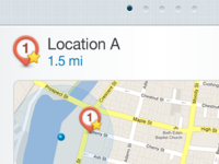 Find a Location on mobile web app
