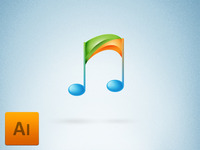 Music player icon/logo FREEBIE