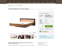 E-shop with furniture product detail