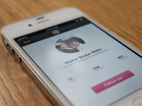 Dribbble App Design - unknown user