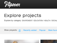 Explore projects page preview