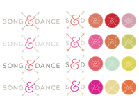 Song & Dance color palettes