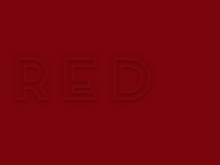 Red outlined type + CSS