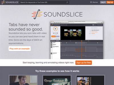 Soundslice-homepage