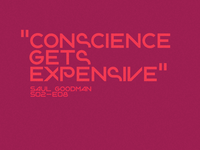Conscience gets expensive