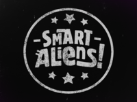 Smart Aliens - Stamp Logo