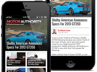 Motor Authority iPhone App