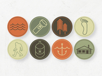 Merit Badge Icon Set