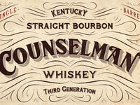 Counselman Whiskey Label