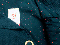 Hearts Polka Dot Fabric Lining